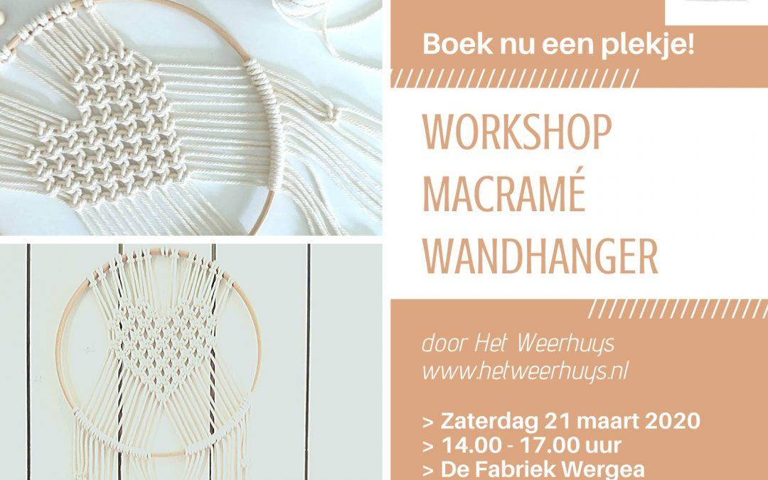 GEANNULEERD Workshop Macrame Wandhanger – nieuwe datum volgt
